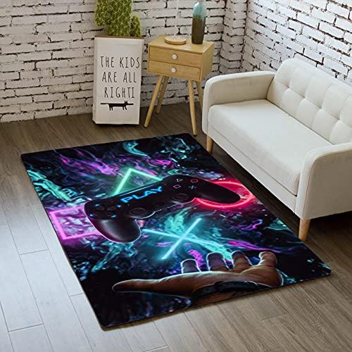 Teppich Schlafzimmer Modern Gamer 3D Controller Teenager Kind Junge Wohnzimmer Teppich rutschfeste Graffiti...