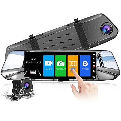 【2021 Version】 CHORTAU Spiegel Dashcam 7 Zoll Touch Screen Full HD 1080P, Weitwinkel Frontkamera und...