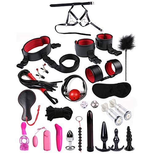 BURAN Adult Fun 25PCS / Set Lederanzug Bundled Binding Sexspiele Spielzeug Für Paare Kits