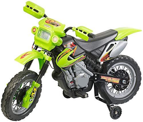 Playtastic Kindermotorrad: Kinder-Elektromotorrad mit Stützrädern, Licht- & Sound-Effekte, 3 km/h (Kinder...