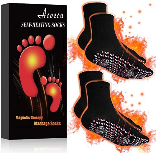 Aooeou Magnetsocken 2 Paar, Turmalin Socken, Beheizbare Socken, Thermosocken Herren, Sohlenwärmer,...