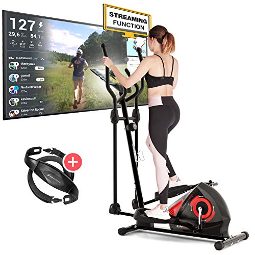 Sportstech CX608 Crosstrainer - Deutsche Qualitätsmarke - Video Events & Multiplayer APP & Bluetooth...