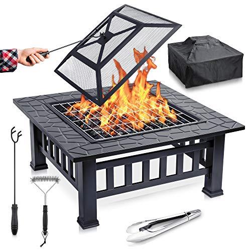 FUNKENFLUG® Feuerschale mit Funkenschutz & Grillrost - für wohlige Wärme & wundervoll gesellige Abende an...