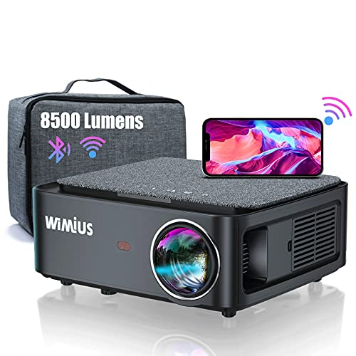 Beamer, Full HD 1080P 8500 Lumen Beamer 5G WiFi Bluetooth Beamer Unterstützung 4K Video, LED Heimkino Video...