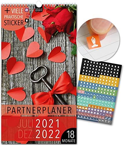 Paarplaner 18 Monate: Jul 21-Dez 22   LIEBE   5 Spalten   Wandkalender: 23x43cm   Partnerplaner + 228 Sticker,...