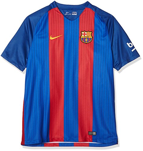 Nike Herren FC Barcelona Heim Trikot, Sport Royal/Gym Red/University Gold, Large 42-44' Chest (104-112cm)
