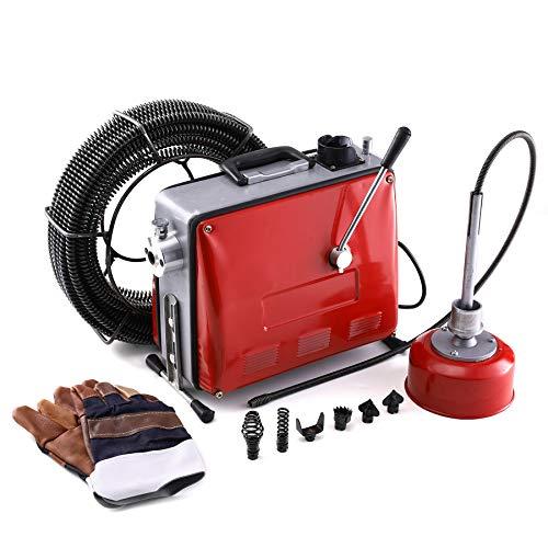 CO-Z Rohrreinigungsmaschine 400W Rohrreinigungsgerät Rohrreiniger 32mm bis 100mm Rohr-Reiniger Reinigung...