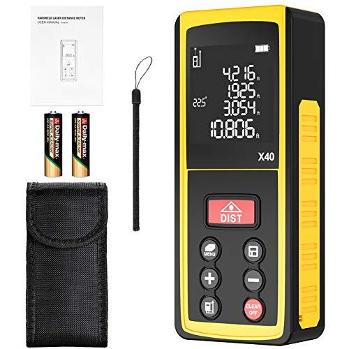 Entfernungsmesser, Laser Entfernungsmesser mit LCD Hintergrundbeleuchtung, Elektronischer Winkelsensor,...