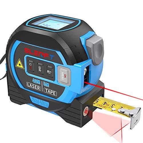 Laser Entfernungsmesser 3-in-1-maßband, 40m Laser-Entfernungsmesser, 5m Maßband, 10m Fadenkreuz, Digitales...