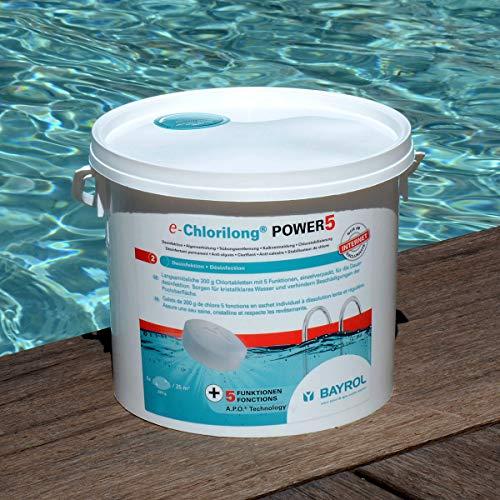 BAYROL e-Chlorilong® POWER 5 Mutlitabs – 200 g 5 Funktionen Chlortabletten für Desinfektion...