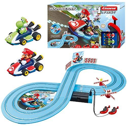 Carrera FIRST Nintendo Mario Kart™ Rennstrecken-Set für Kleinkinder | 2,4m elektrische Rennbahn mit Mario &...