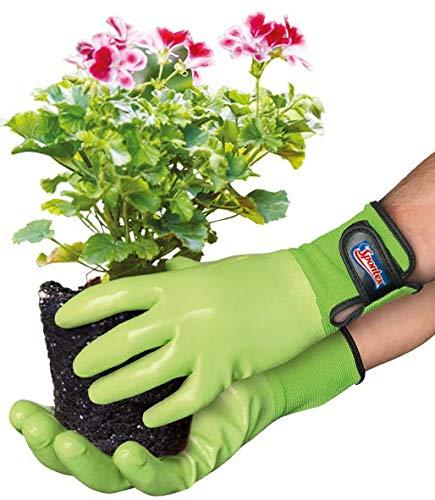 Spontex Garden, vielseitige Gartenhandschuhe für feuchte Gartenarbeiten, verstellbares Bündchen - 1 Paar,...