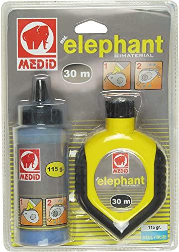 Medid 1530 Schlagschnurroller-Set ELEPHANT - 30 Meter Schlagschnur - 115 g blauem Farbpulver