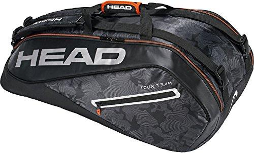 Head Tennis-Tasche Tennis-Tasche Tour Team 9, Schwarz/Silber, One Size, 283118