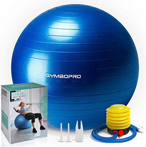GYMBOPRO Gymnastikball, Yoga Ball Fitnessball mit Pumpa für Yoga, Pilates, Balance Stuhl, Fitness,...