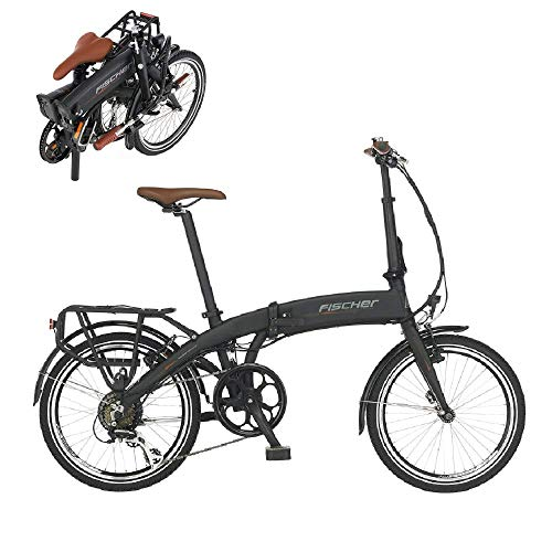 Fischer E-Bike Klapprad / Faltrad FR18, graphitschwarz matt, 20 Zoll, Bafang Hinterradmotor 25 Nm, 36V Akku im...