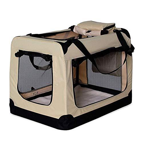 lionto by dibea Hundetransportbox Hundetasche Hundebox faltbare Kleintiertasche Größe (M) 60x42x44 cm Farbe...
