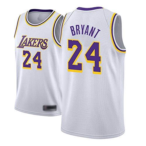 WOLFIRE SC Basketball-T-Shirt für Herren, NBA, Los Angeles Lakers #8#24 Kobe Bryant, bestickt, Swingman...