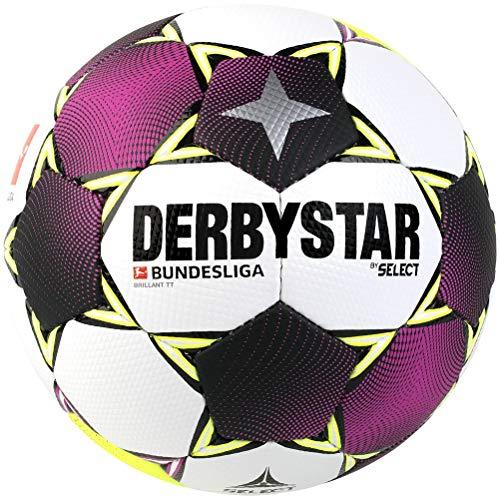 Derbystar Unisex– Erwachsene Bundesliga Brillant TT Fußball, Weiss Magenta gelb, 5