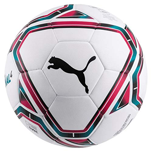 PUMA Unisex– Erwachsene teamFINAL 21.4 IMS Hybrid Ball Fußball, White-Rose Red-Ocean Depths Black, 5