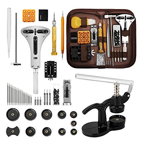 Eventronic Uhrenwerkzeug Set,Uhr Reparatur Uhrmacherwerkzeug Tasche,Watch Tools in Nylontasche,Uhr Presse Uhr...