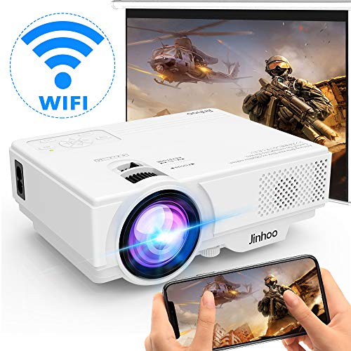 [Wireless Beamer] WiFi Beamer 5000 Lux Unterstützt 1080P Full HD, Native 720P WiFi Projektor Kompatibel mit...