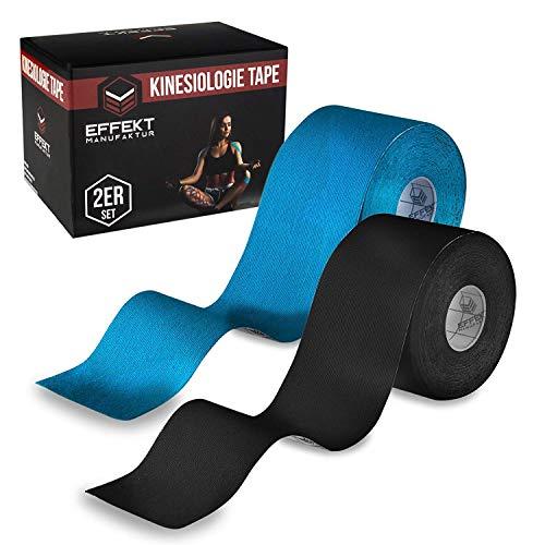 Effekt Manufaktur - (5m x 5cm) Rolle - Kinesiologie Tape in versch. Farben (2er Set) - Kinesiotapes Wasserfest...