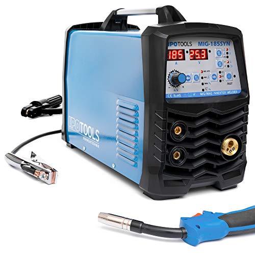 IPOTOOLS MIG-185SYN Inverter Schweißgerät MIG MAG - Schutzgas Schweissgerät mit 185 Ampere/Synergic...