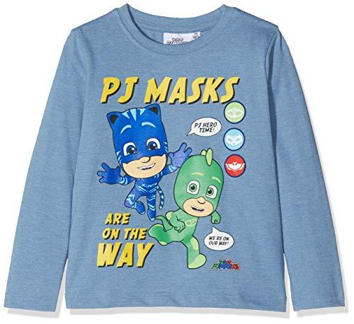 Pyjamasques Jungen T-Shirt 2362, Blau Bleu, 4 Jahre