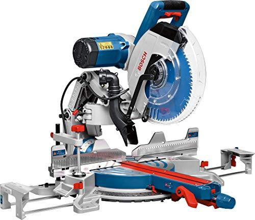 Bosch Professional Kapp- und Gehrungssäge GCM 12 GDL (Doppellinienlaser, Kreissägeblatt, Spannzange, Karton,...