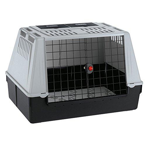 Ferplast Autotransportbox für Hunde ATLAS CAR 100, Lüftungsgitter, Ablagefächer, Drainagematte enthalten
