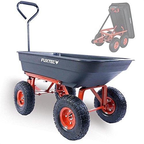 Fuxtec Kippwagen FX-KW2175 bis zu maximal 300kg Zuladung - max 150 kg bei gekippter Funktion, Transportwagen...