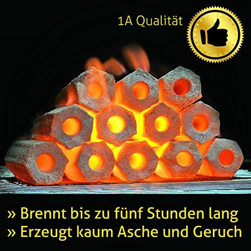 Kokos Grill Briketts Holzkohle Turquoise 10 kg  brennt fünf Stunden