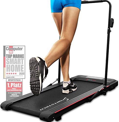 Sportstech Laufband für Zuhause & Büro Easy verstaubar   eingebauter Bluetooth-Lautsprecher & APP   Walking...