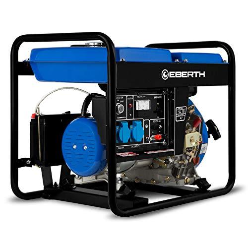 EBERTH 3000 Watt Diesel Stromerzeuger (E-Start, 5,7 PS 4-Takt Dieselmotor, Ölmangelsicherung, Automatischer...
