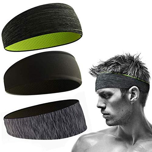 Stirnbänder Feuchtigkeitstransport Athletisch,Sports Stirnband Einstellbare,Moisture Wicking Stirnband,Herren...