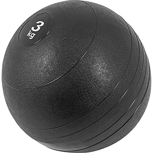 GORILLA SPORTS Slamball Gummi Medizinball Fitnessball Trainingsball No Bounce Farbe 3 KG
