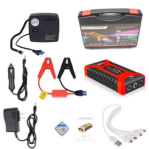 AZITEKE Auto Starthilfe Powerbank, 20000mAh 4 USB Smart Digital Tragbare Auto-Starthilfe Notversorgungs-Kit...