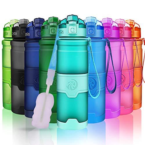 ZORRI Sport Wasserflasche-Trinkflasche Bpa Frei Sportflasche, Minzgrün, Gr.- 400ml-14oz