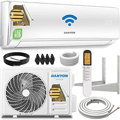 Danyon Premium Split-Klimaanlage Set - für 55 qm, 12000 BTU, 3,4 kW, Titangold, Smart Home, W-LAN, Alexa,...