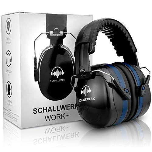 SCHALLWERK ® Work+ Arbeitsgehörschutz – größenverstellbare Kapselgehörschützer – dämpft Lärm &...