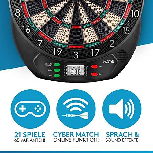 DartPro [DAS ORIGINAL - Elektronische Dartscheibe - Dartboard mit 6 Darts [kabellos nutzbar] - Innovativer...