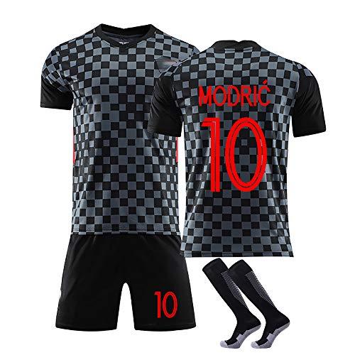10 Modric und 7 Rakitic Trikot Benutzerdefinierte Fußballuniform WM Kroatien, Erwachsene Fußball Trikot Kits...
