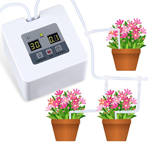 Landrip Automatisches Bewässerungssystem, DIY Indoor Bewässerungssystem Topfpflanzen, Urlaub...
