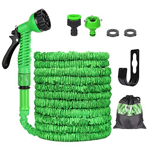 Flexibler Gartenschlauch, Flexischlauch Wasserschlauch, Schlauch Dehnbar mit 8 Funktionen Sprühdüse,...