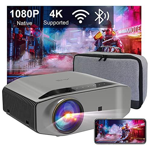 Beamer Full HD WLAN Bluetooth - Artlii Energon2 5.0G WiFi Beamer 9000 Lumens Native 1080P Beamer Unterstützt...