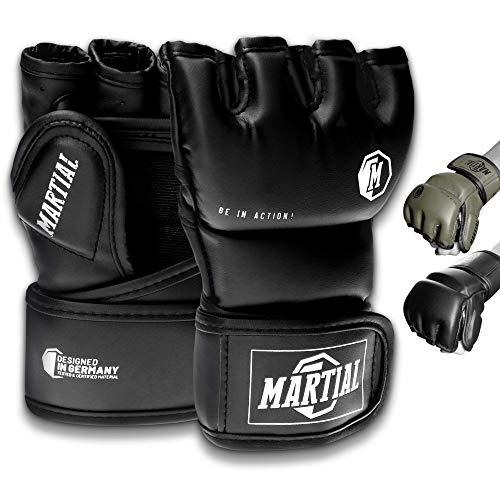 Martial MMA Handschuhe mit hochwertiger Polsterung! Boxhandschuhe für hohe Stabilität im Handgelenk....