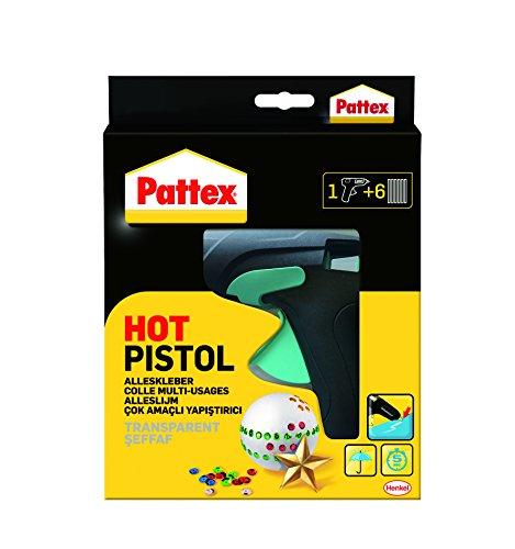 Pattex Hot Pistol Heißklebepistole / Klebepistole mit mechanischem Vorschub und hitzeisolierter Düse / Set...