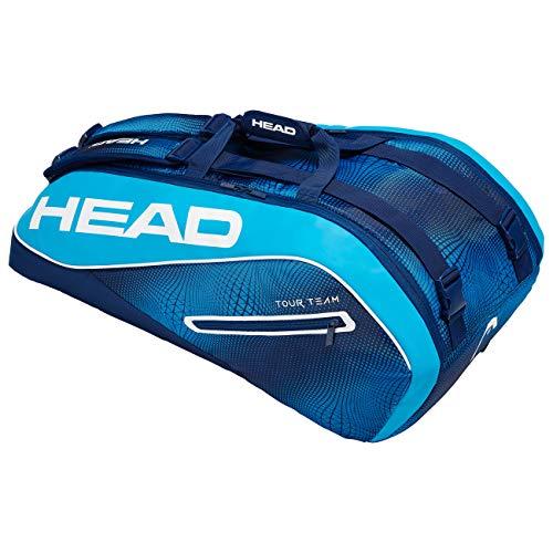 HEAD Unisex– Erwachsene Tour Team 9R Supercombi Tennistasche, navy/blue, Einheitsgröße