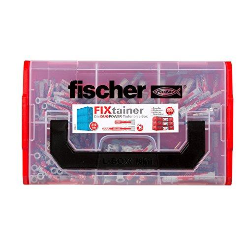fischer FIXtainer DUOPOWER Tiefenbiss-Box, Dübelbox mit 210 Dübeln (80 Stk. 6 x 30, 40 Stk. 6 x 50, 60 Stk....